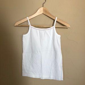 Hanna Andersson white cotton tank girls sz L